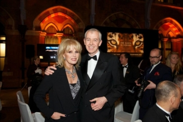 Simon Clinton with Joanna Lumley at Tiger Tracks Gala 2013