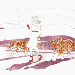 TIGER CROSSING by Pandemonia