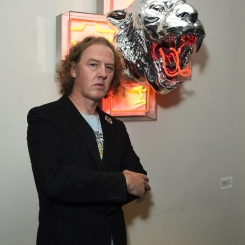 "Christian Furr with his piece ""Tyger Tyger"""